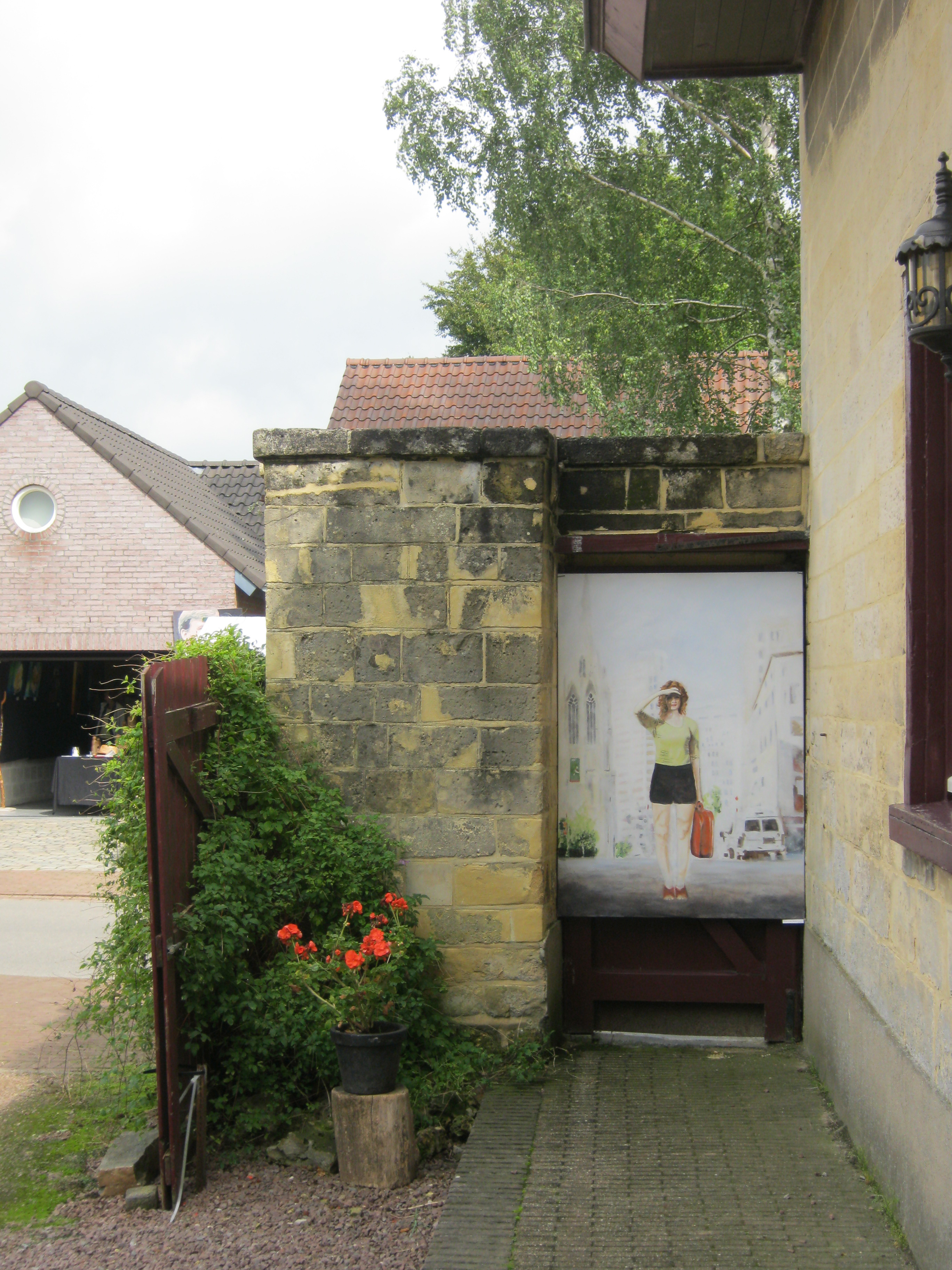 Schilderij in tuin