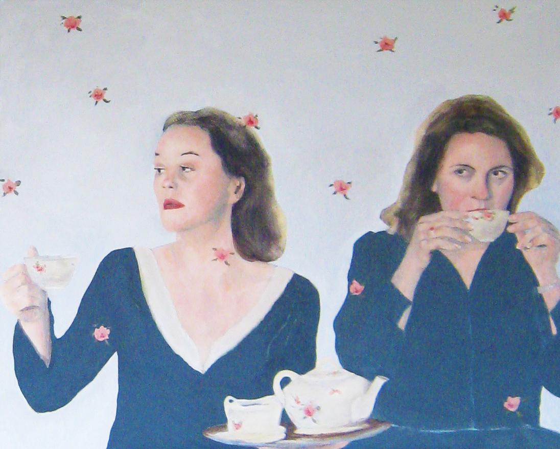 vrouwen drinken thee